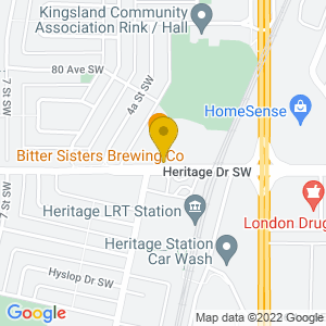 Map to Atlantic Trap and Gill Calgary provided by Google