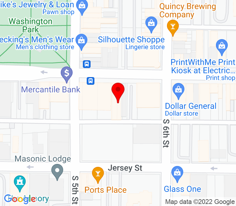 Click to view Google maps office address 510 Maine Street, Quincy, IL 62301