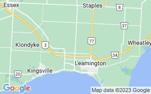 Map of Leisure Lake Cottage & RV Resort - Parkbridge
