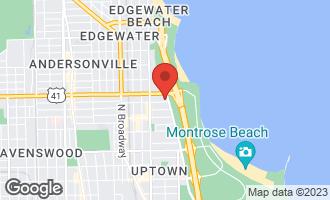 Map of 5100 North Marine Drive 16C CHICAGO, IL 60640