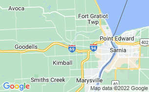 Map of Port Huron KOA