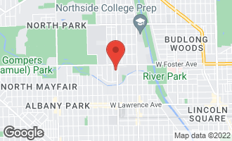 Map of 5126 North Kimball Avenue #1 CHICAGO, IL 60625