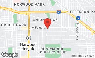 Map of 5137 North Oak Park Avenue CHICAGO, IL 60656