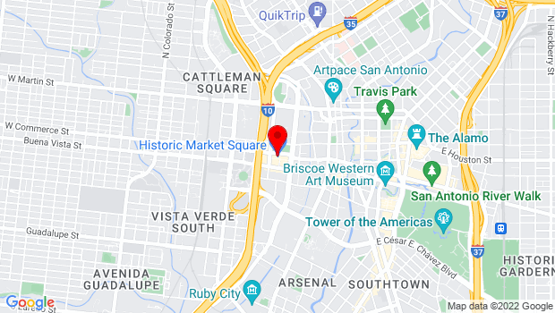 Google Map of 514 W. Commerce , San Antonio, TX 78207