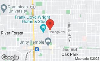 Map of 514 North Grove Avenue OAK PARK, IL 60302