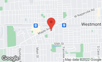 Map of 5148 Benton Avenue DOWNERS GROVE, IL 60515