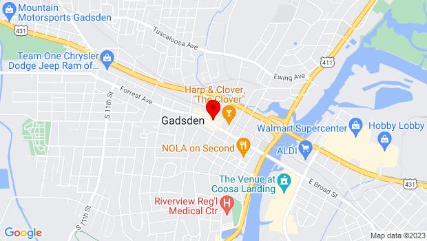 Google Map of 515 Broad Street, Gadsden, AL 35907
