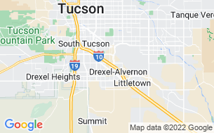 Map of Tucson / Lazydays KOA