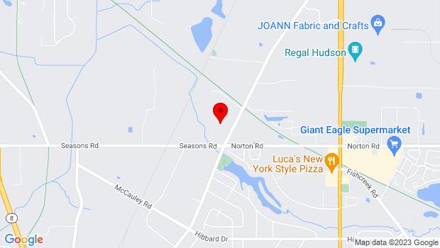 Google Map of 5170 Hudson Dr, Hudson, OH 44236