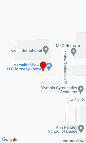Google Map of Versalift Midwest LLC 51761 Danview Technology Court, Shelby Twp, MI, 48315