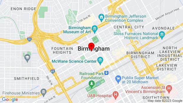 Google Map of 518 19th Street North, Birmingham, AL 35203