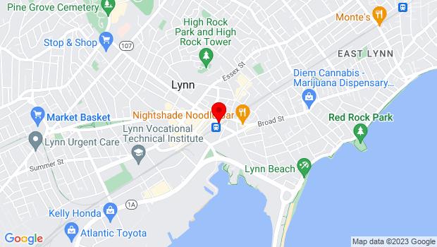 Google Map of 519 Washington St, Lynn, MA 01901