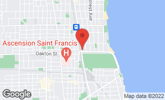 Map of 519 Chicago Avenue H EVANSTON, IL 60202