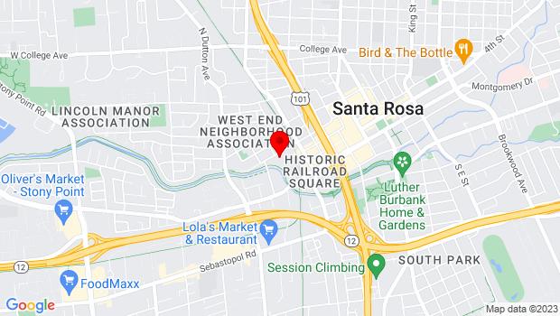 Google Map of 52 West 6th Street, Santa Rosa, CA 95401