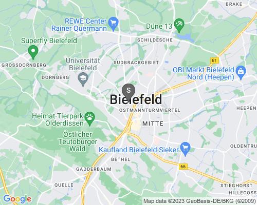 Google Karte von Schlüsseldienst Bielefeld