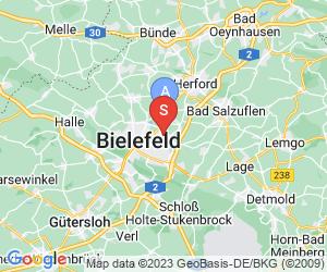 Karte für Paintballarena Bielefeld GmbH