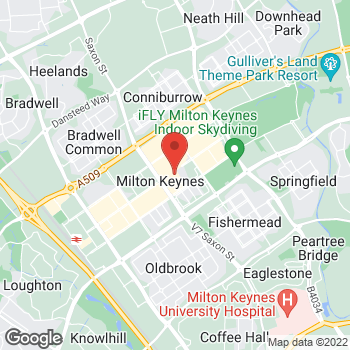 Map of STA Travel at 67 Midsummer Place, Milton Keynes, Buckinghamshire MK9 3GB