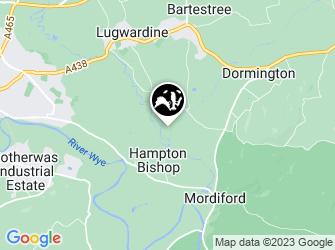 A static map of Hampton Meadow