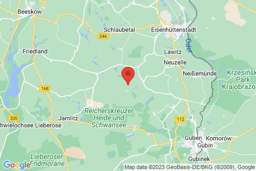 Karte Neuzelle Henzendorf