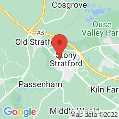 Map showing Out Of Office Coffee House - Stony Stratford