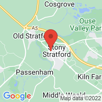 Map showing Out Of Office Coffee House (Stony Stratford)