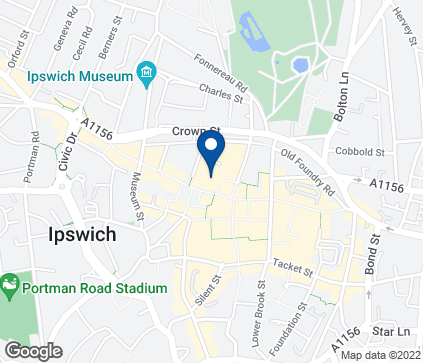 Map of 5 Tavern Street in Ipswich