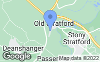 Map of Old Stratford, Northamptonshire