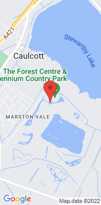 Map showing the location of the Central Beds Marston Vale [Closed] monitoring site