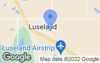 Map of Luseland, SK