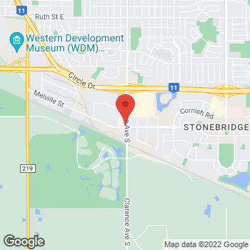 Map of Tim Hortons at 3134 Clarence Ave S, Saskatoon, SK S7T 0C9
