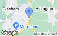 Map of Evesham, Worcestershire