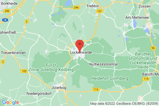 Karte Luckenwalde
