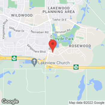 Map of Tim Hortons at 405 Ledingham Dr, Saskatoon, SK S7V 0A7