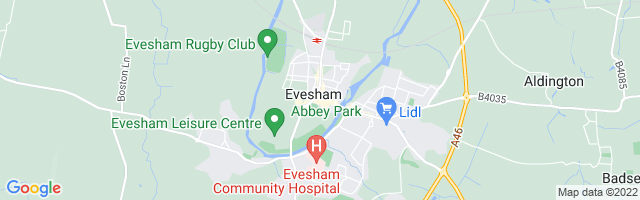 Map Of Evesham
