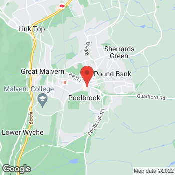 Map of Bargain Booze Barnards Green Road at 94 Barnards Green Road, Malvern, Worcestershire WR14 3LY
