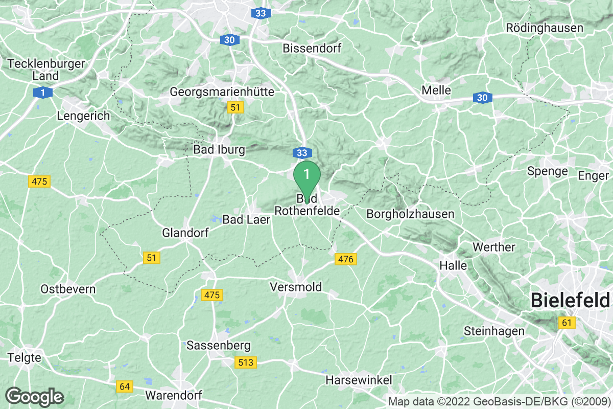 Google Map of Bad Rothenfelde