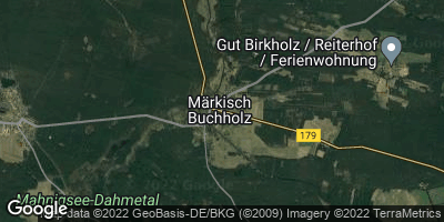 Google Map of Märkisch Buchholz