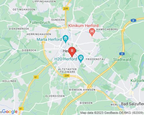 Google Karte von Rohrreinigung Herford