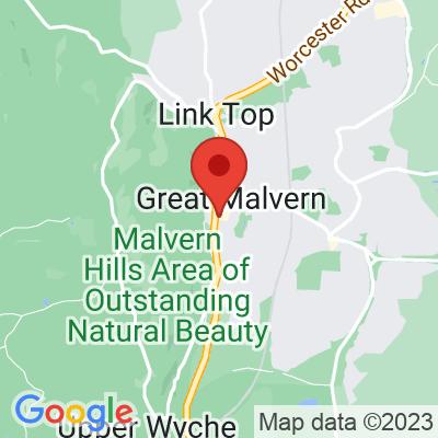 Map showing Mac & Jac's Café Malvern