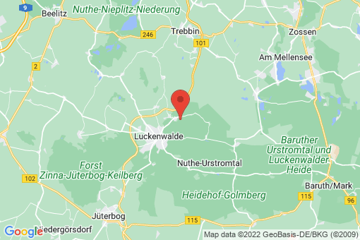 Karte Nuthe-Urstromtal