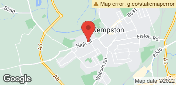 Map of Cottage Garden at 95 High Street, Kempston, Bedfordshire MK42 7BS