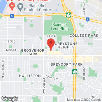 Map of Staples Saskatoon at 2327 Eighth Street East, Saskatoon, SK S7H 0V4