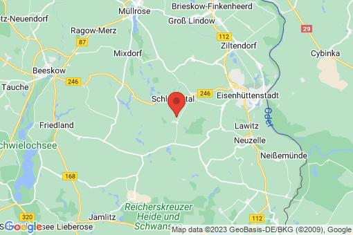 Karte Schlaubetal Kieselwitz