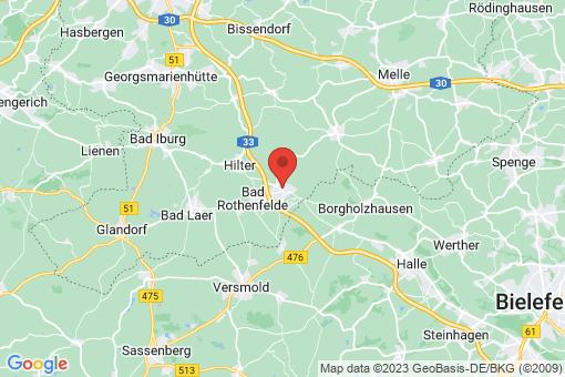 Karte Dissen am Teutoburger Wald