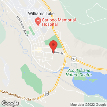 Map of Tim Hortons at 715a Oliver Street, Williams Lake, BC V2G 1M9