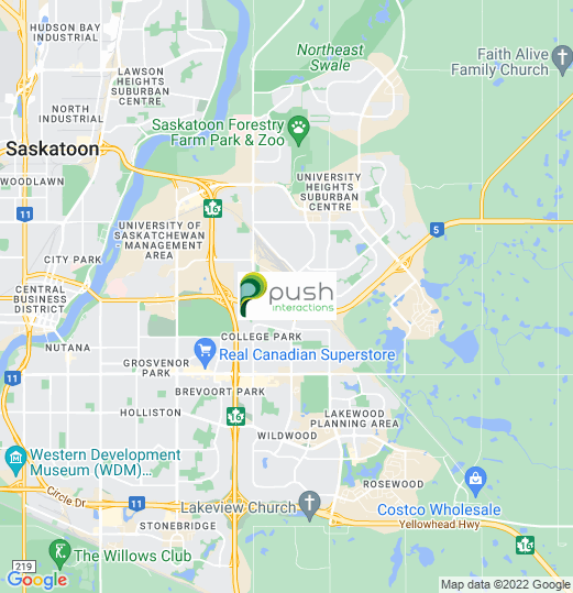 Mobile App Developer in Saskatoon, Push Interactions Headquarters