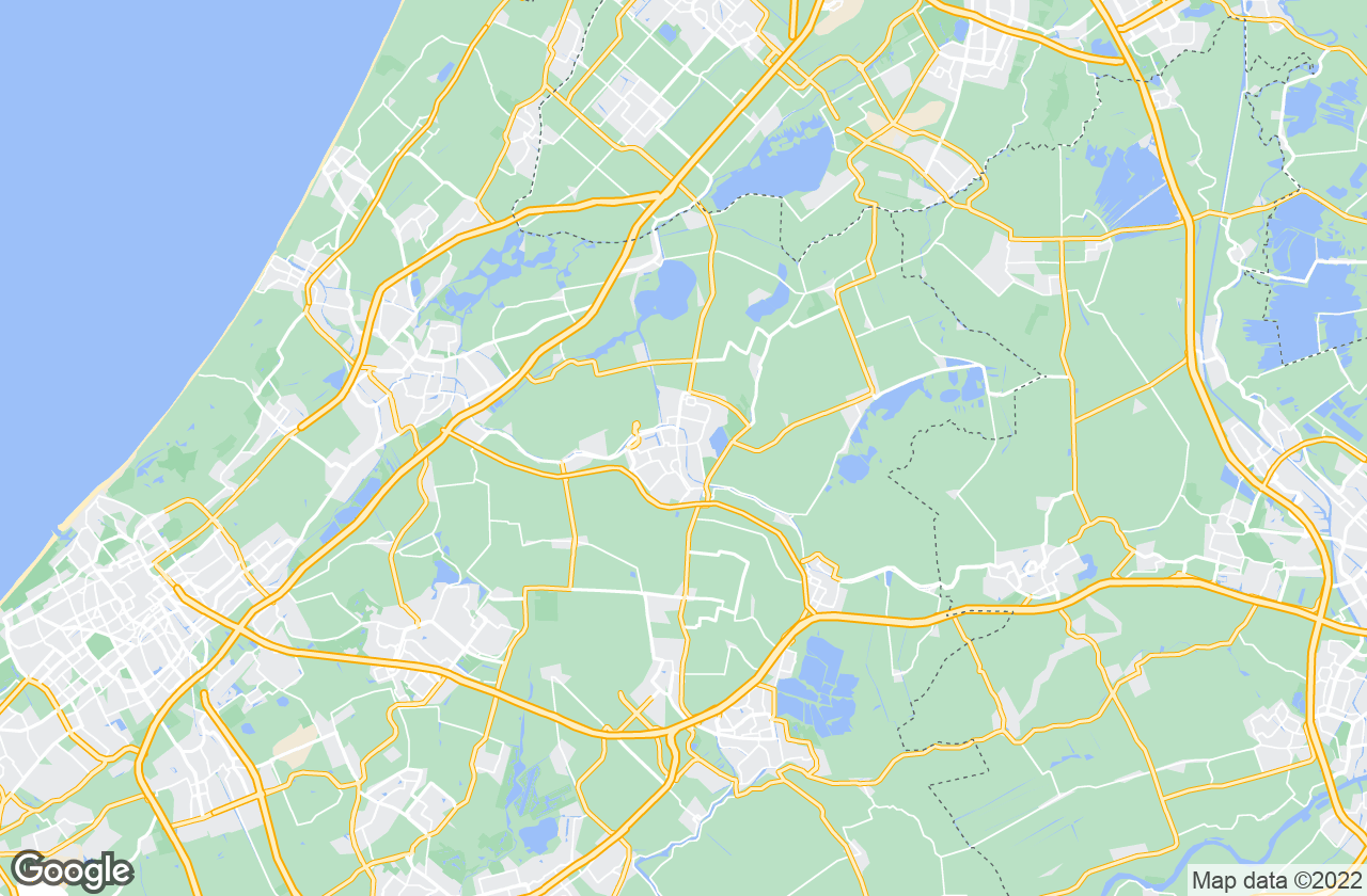 Google Map of Alphen Aan Den Rijn