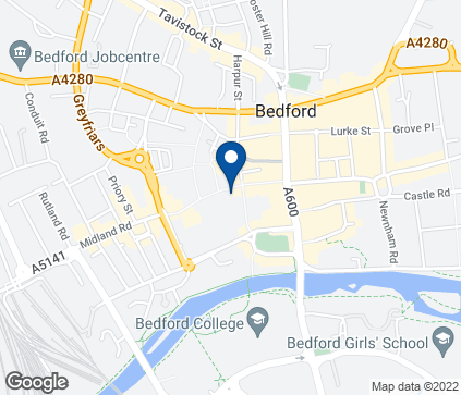 Map of The Harpur Centre in Bedford