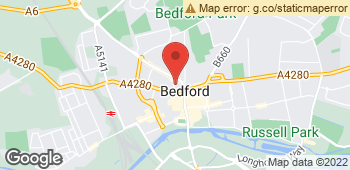 Map of Fleurette at 65 Harpur Street, Bedford, Bedfordshire MK40 2SR