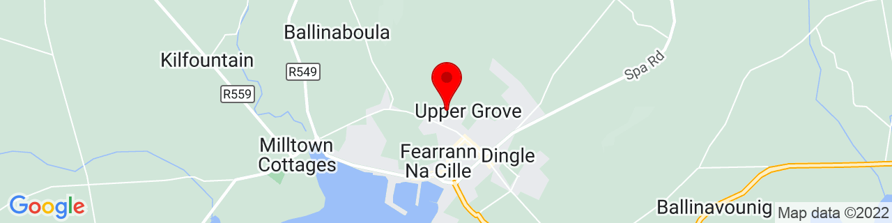 Google Map of 52.144275, -10.271658333333335